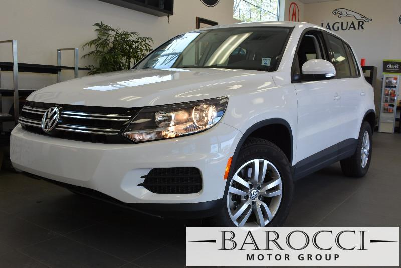 2015 Volkswagen Tiguan S 4dr SUV 6 Speed Auto White Black Child Safety Door Locks Power Door L