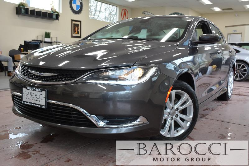 2015 Chrysler 200 Limited 4dr Sedan 9 Speed Auto Gray Off White Beautiful limited Chrysler 200