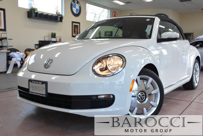 2014 Volkswagen Beetle 25L PZEV 2dr Convertible 6 Speed Auto White ABS Air Conditioning Alarm