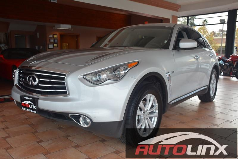 2016 Infiniti QX70 Base 7-Speed Automatic Silver Black Bluetooth Hands-Free Portable Audio Co
