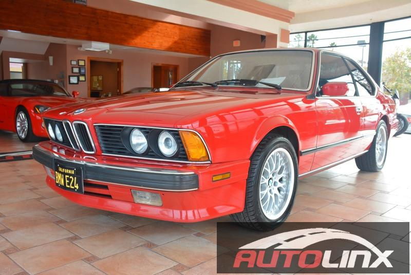 1989 BMW 6-Series 635 CSI 4-Speed Automatic Red Gray Bluetooth Hands-Free Sunroof Moonroof L