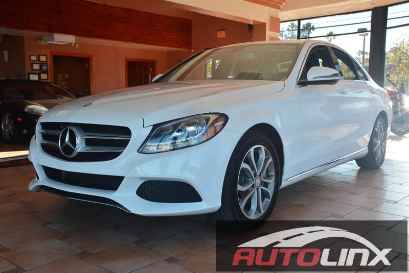 2016 MERCEDES C-Class C300 Sedan 7-Speed Automatic White Black Call ASAP Join us at AutoLinx