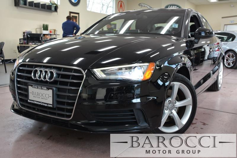 2015 Audi A3 18T Premium 4dr Sedan 6 Speed Auto Black Bluetooth Connection Dual Zone A C Heat