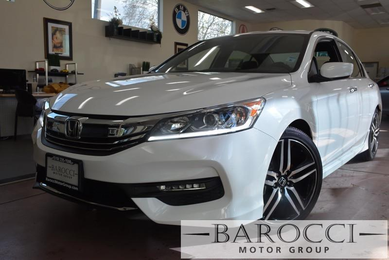 2016 Honda Accord Sport 4dr Sedan CVT CVT wOD White Black Beautiful Honda Accord with the spor