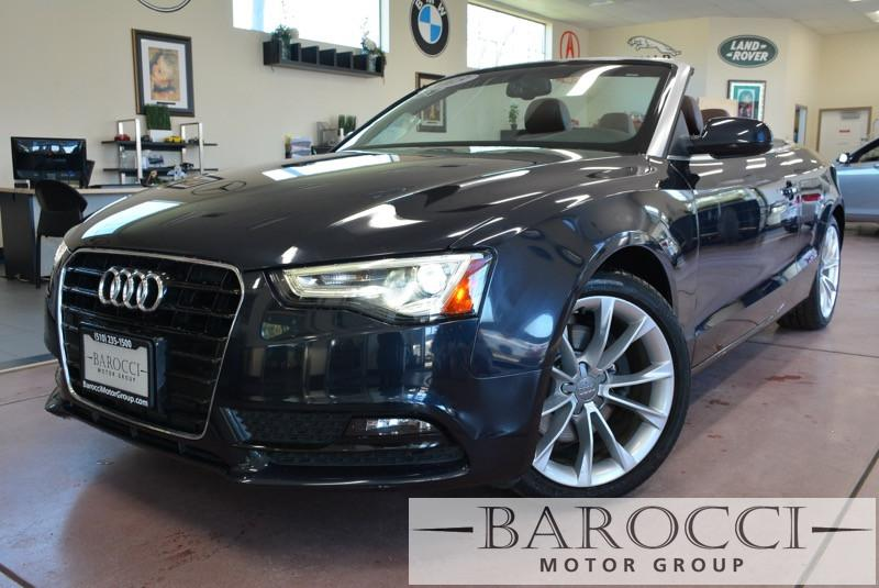 2013 Audi A5 Cabriolet 20T FrontTrak Multitroni Continuously Variable Transmission Black Black