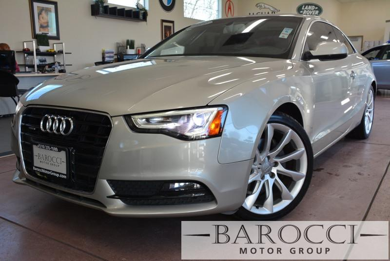 2013 Audi A5 20T quattro Premium Plus AWD 6-Speed Automatic Silver Black This is a beautiful v