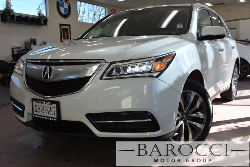 2015 Acura MDX WTechnology Package 6 Speed Auto White Gray Child Safety Door Locks Power Door