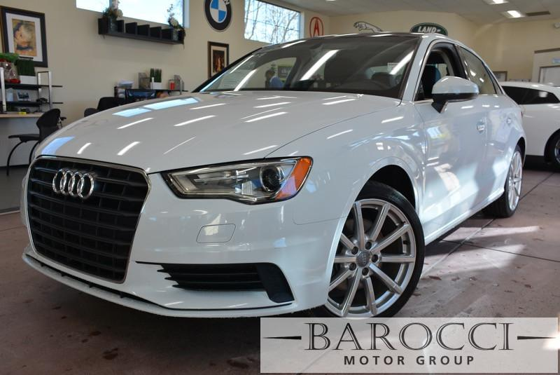 2015 Audi A3 18T Premium 4dr Sedan 6 Speed Auto White Black Bluetooth Connection Dual Zone A