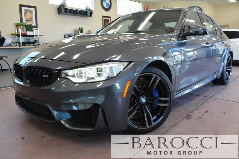 2015 BMW M3 Base M3 4dr Sedan 6 SP Gray Red Navigation System 9 Speakers AM FM radio CD play
