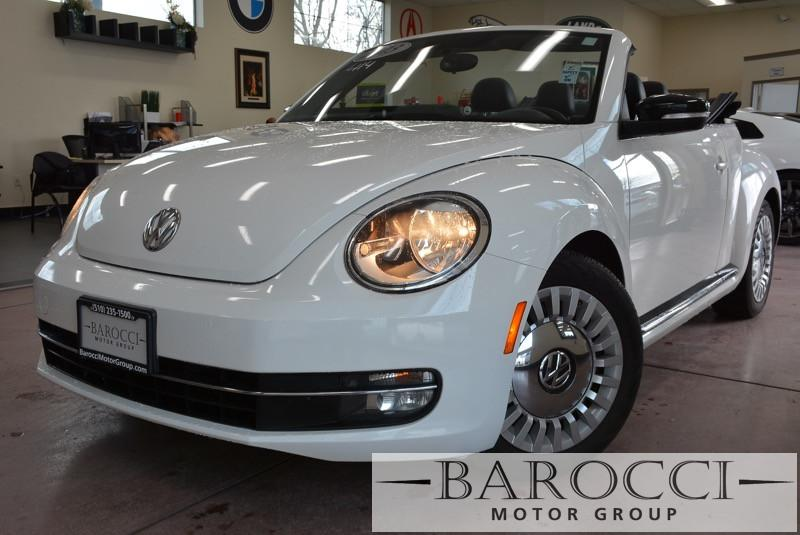 2013 Volkswagen Beetle Turbo PZEV 2dr Convertible 6A ends 6 Speed Auto White Black Stock 3414