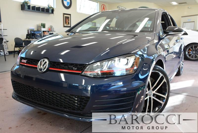 2017 Volkswagen GTI S 2dr 6 Speed Manual Dk Blue Gray Premium Wheels Back up Camera One Owne
