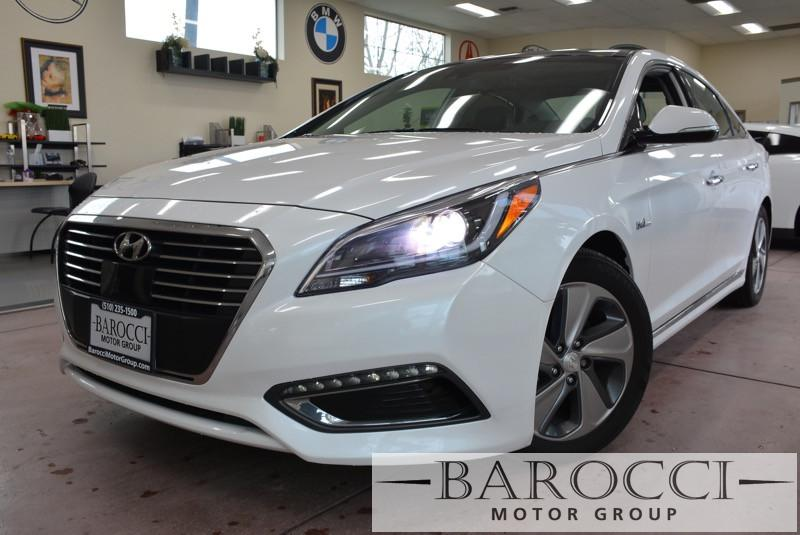 2016 Hyundai Sonata Hybrid Limited 4dr Sedan 6 Speed Auto White Black Stock 3431 VIN KMHE34L