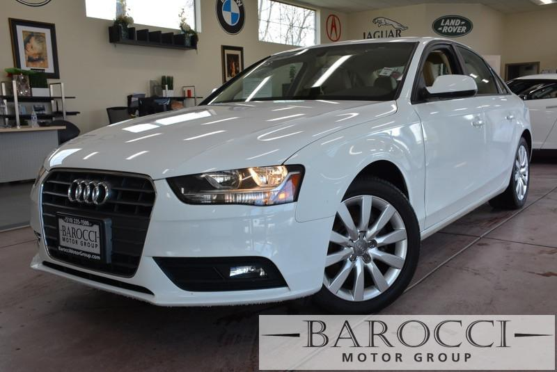 2014 Audi A4 20T Premium 4dr Sedan Automatic CVT White ABS 4-Wheel Air Conditioning AM FM Ste