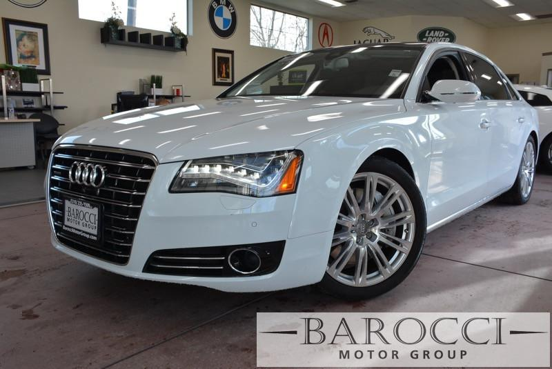 2014 Audi A8 40T quattro LWB AWD  4dr Sedan 8 Speed Auto White Child Safety Door Locks Power D