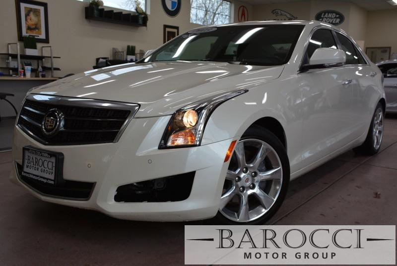 2013 Cadillac ATS 25L Luxury 4dr Sedan 6 Speed Auto White Black Gorgeous Cadillac with so many