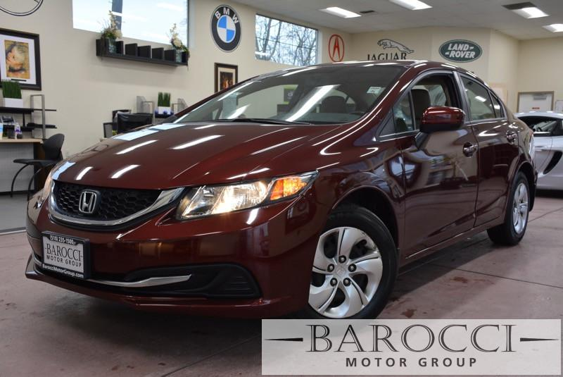 2014 Honda Civic LX 4dr Sedan CVT 5-Speed Automatic Red Child Safety Door Locks Power Door Lock