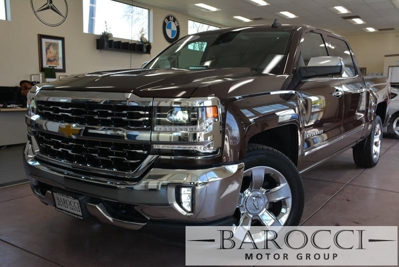2016 Chevrolet Silverado 1500 LTZ 4x4  4dr Crew Cab 58 ft 8 Speed Auto Dk Brown Child Safety