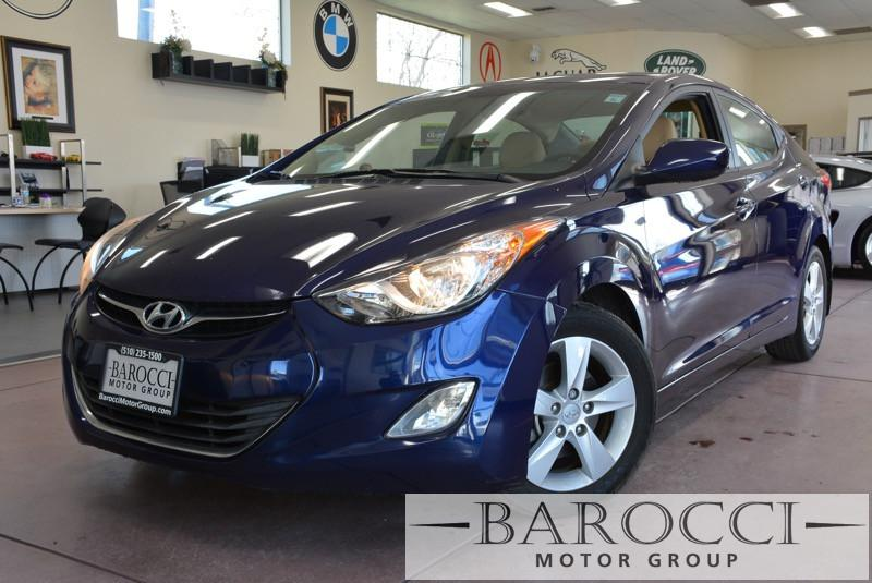 2013 Hyundai Elantra GLS 4dr Sedan 6M US 6 Speed Man Blue Gray Child Safety Door Locks Powe