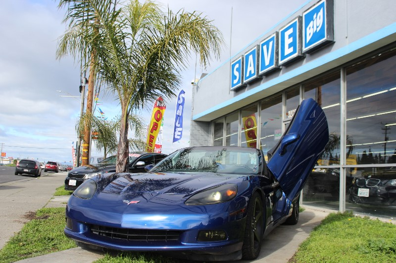 2005 Chevrolet Corvette Convertible  6-Speed Manual Blue Gray Power Door Locks Vehicle Anti-Th