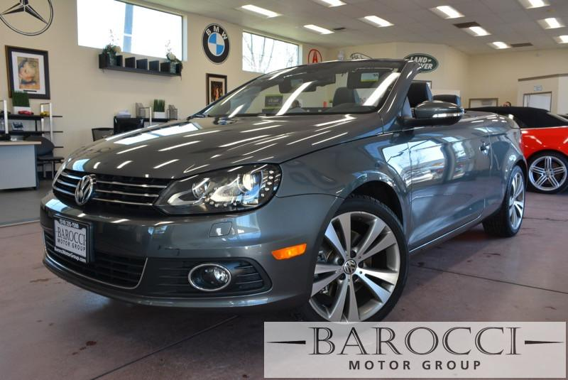2013 Volkswagen Eos Lux SULEV 2dr Convertible 6 Speed Auto Gray Black Up for sale is a great on