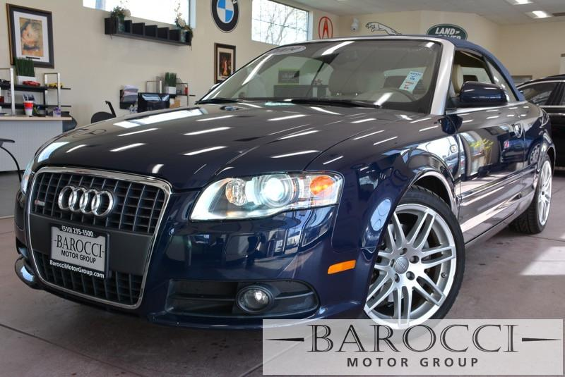 2009 Audi A4 20T quattro AWD  2dr Convertible 6 6 Speed Auto Blue Tan Books and Records Chil