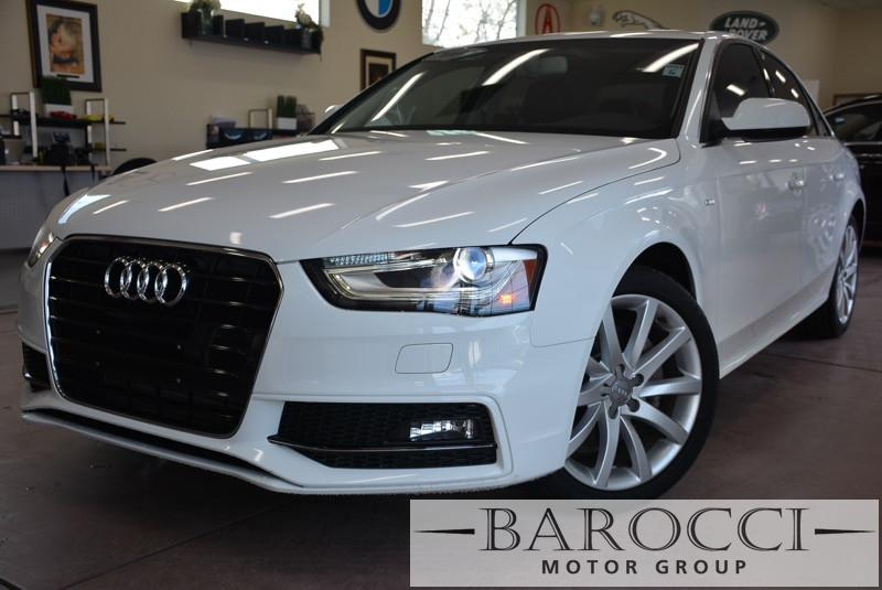 2014 Audi A4 20T Premium 4dr Sedan Automatic CVT White Black ABS 4-Wheel Air Conditioning AM