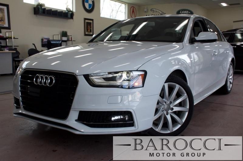 2014 Audi A4 20T Premium 4dr Sedan Automatic CVT White Tan ABS 4-Wheel Air Conditioning AM F
