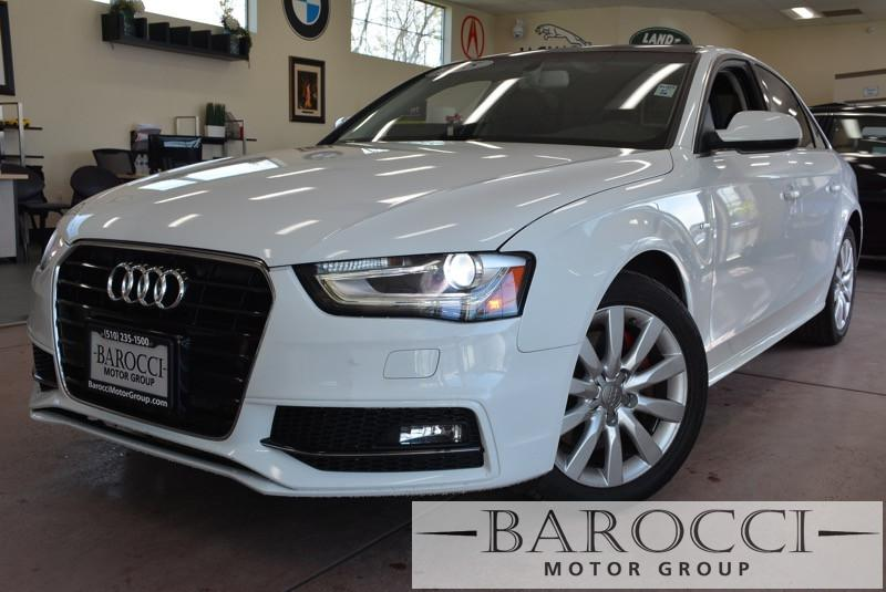 2015 Audi A4 20T Premium 4dr Sedan Automatic CVT White ABS 4-Wheel Air Conditioning AM FM Ste