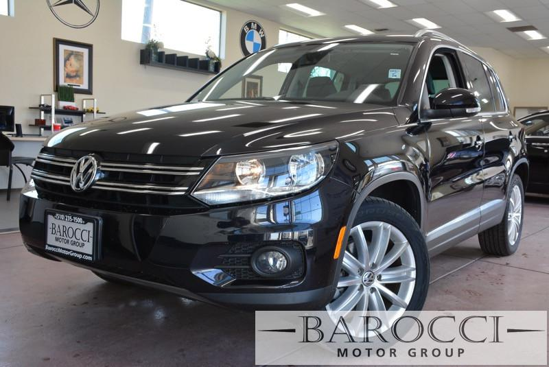 2014 Volkswagen Tiguan SEL Navigation Pano Roof 6 Speed Auto Black Black ABS Air Conditioning