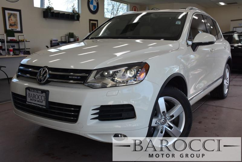 2012 Volkswagen Touareg Hybrid AWD  4dr SUV 8 Speed Auto White Beige We are proud to offer an e
