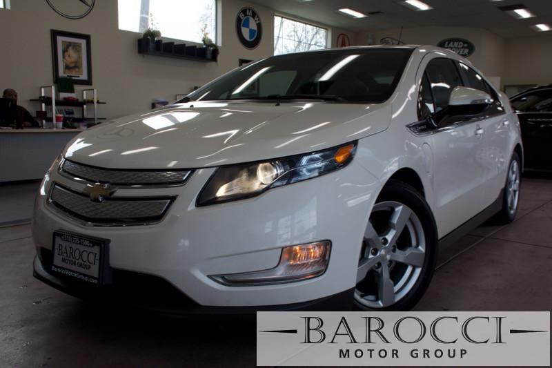 2014 Chevrolet Volt Premium 4dr Hatchback 1 Speed Auto White Gray HOV Full Leather Interior E