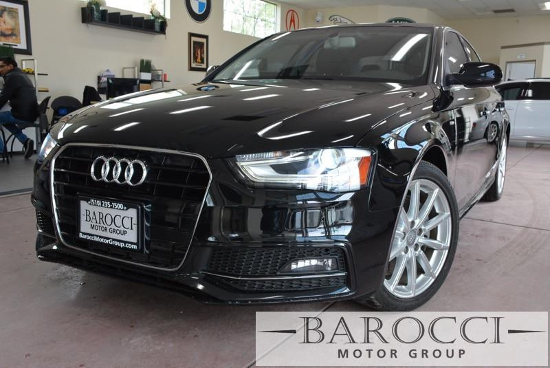 2015 Audi A4 20T Premium 4dr Sedan Automatic CVT Black Black This is a super nice one owner 20