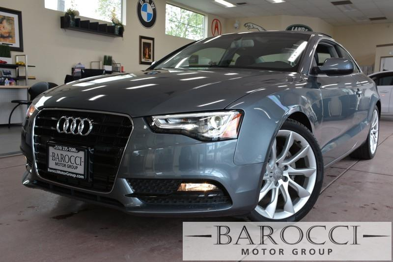 2014 Audi A5 20T quattro Premium AWD  2dr Coupe 8 Speed Auto Gray Black Now offering a superb