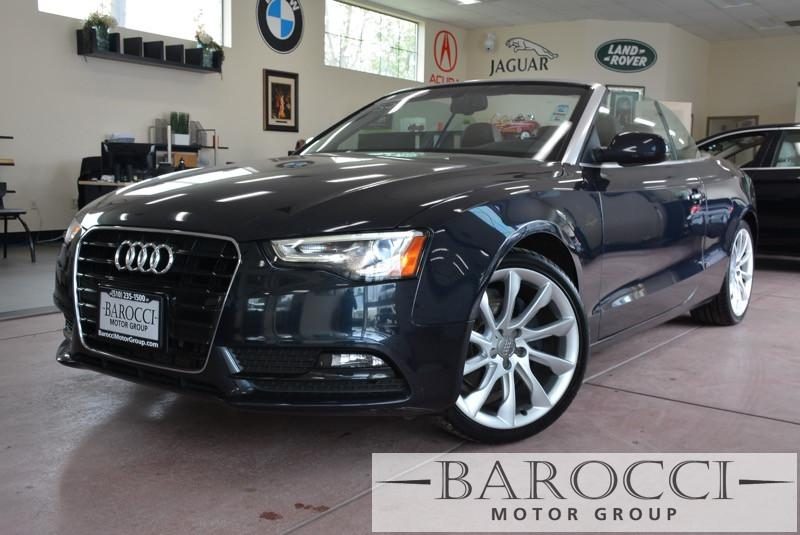 2014 Audi A5 20T Premium Plus 2dr Convertible Continuously Variable Transmission Blue Brown No
