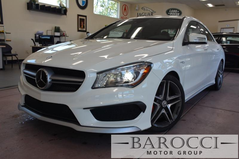 2014 MERCEDES CLA CLA45 AMG AWD  4MATIC 4dr Sedan 7 Speed Auto White Black Child Safety Door Lo