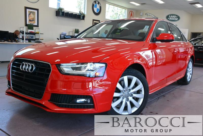 2015 Audi A4 20T Premium 4dr Sedan Automatic CVT Red ABS 4-Wheel Air Conditioning AM FM Stere