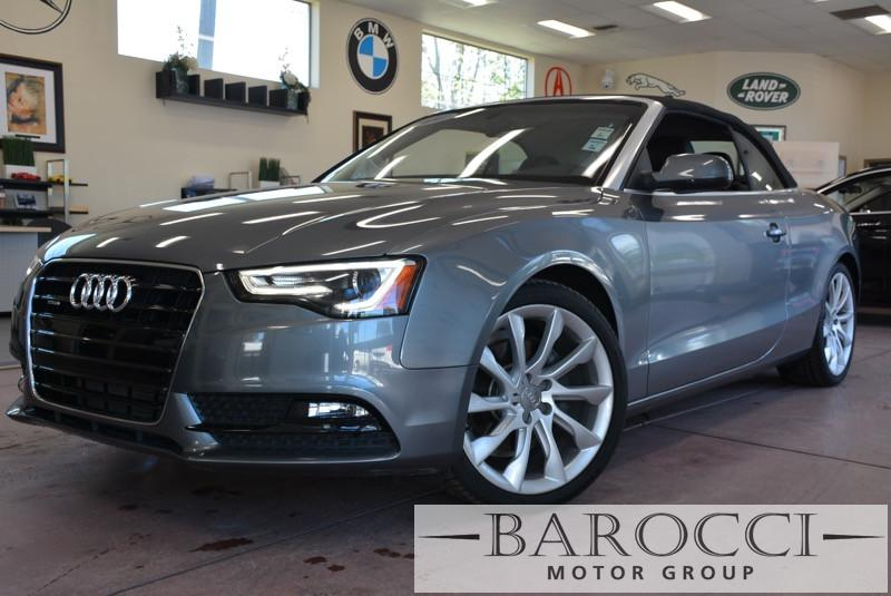 2014 Audi A5 20T quattro Premium Plus AWD 8 Speed Auto Gray Black Beautiful Convertible comes