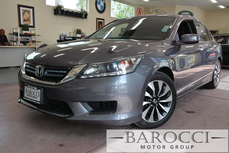 2014 Honda Accord Hybrid Base 4dr Sedan CVT wOD Gray Black Front Wheel Drive Power Steering