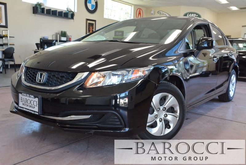 2013 Honda Civic LX 4dr Sedan 5A 5 Speed Auto Black Child Safety Door Locks Power Door Locks V