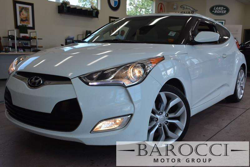 2013 Hyundai Veloster Base 3dr Coupe 5 Speed Manual White Black Child Safety Door Locks Power