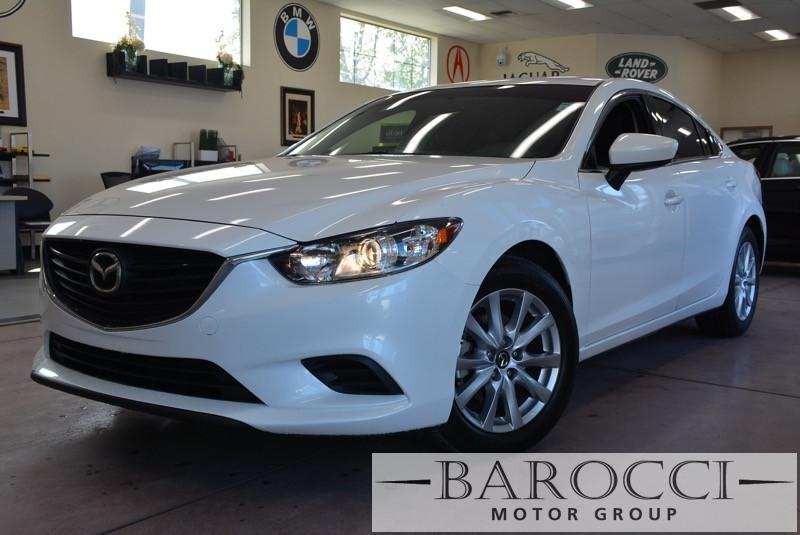 2015 Mazda MAZDA6 i Sport 4dr Sedan 6A 6 Speed Auto White Black ABS Air Conditioning Alarm A