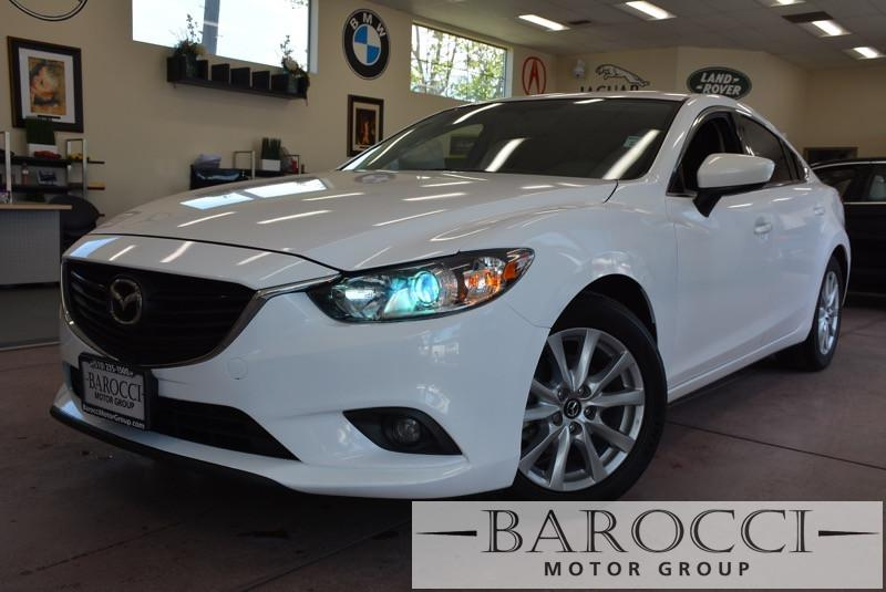 2015 Mazda MAZDA6 i Sport 4dr Sedan 6A 6 Speed Auto White Black Air Conditioning Alarm Power