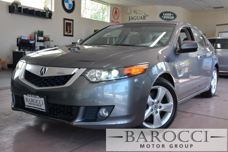 2009 Acura TSX wTech Pkg 4dr Sedan 5A 5 Speed Auto Gray Gray Child Safety Door Locks Power Do