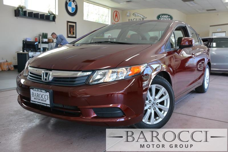 2012 Honda Civic EX 4dr Sedan 5 Speed Auto Maroon Beige Child Safety Door Locks Power Door Loc