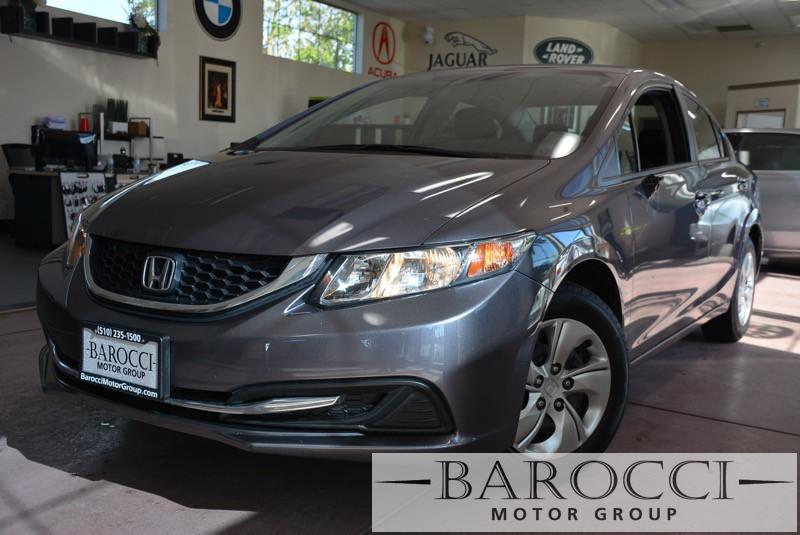 2015 Honda Civic LX 4dr Sedan CVT 5-Speed Automatic Gray Child Safety Door Locks Power Door Loc