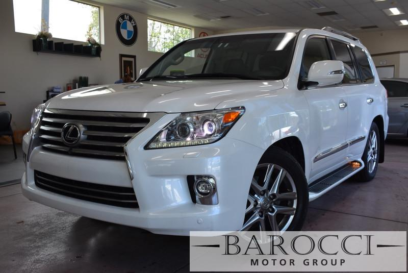 2014 Lexus LX 570 Base 4x4 4dr SUV 6 Speed Auto White Black Child Safety Door Locks Vehicle An