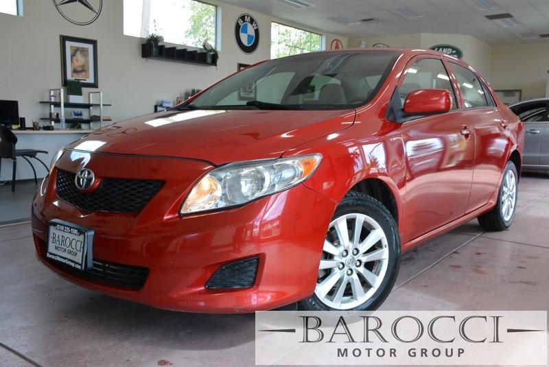 2009 Toyota Corolla LE 4dr Sedan 4A 4 Speed Auto Red No Power Windows No Power Locks Child Saf
