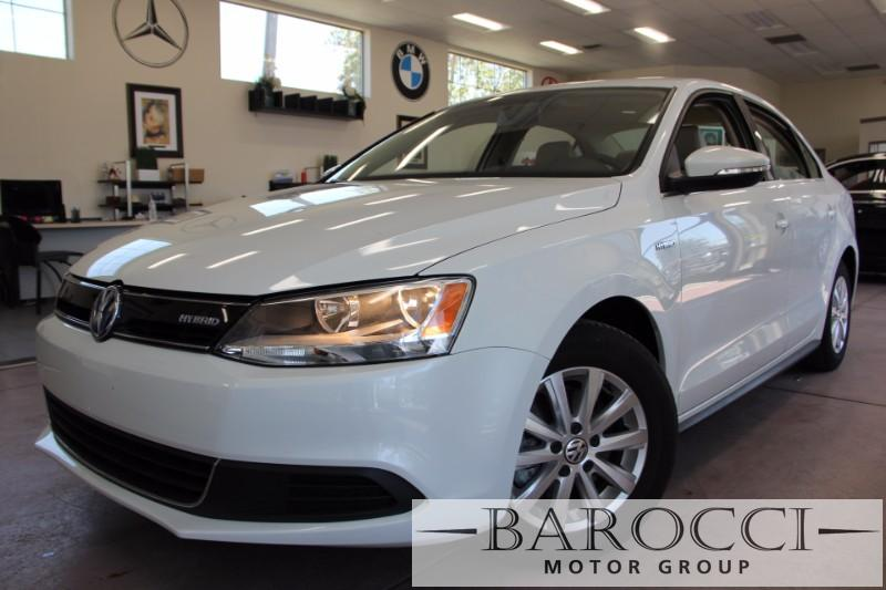 2014 Volkswagen Jetta Hybrid 4dr Sedan 7 Speed Auto White Tan We are excited to offer an excell