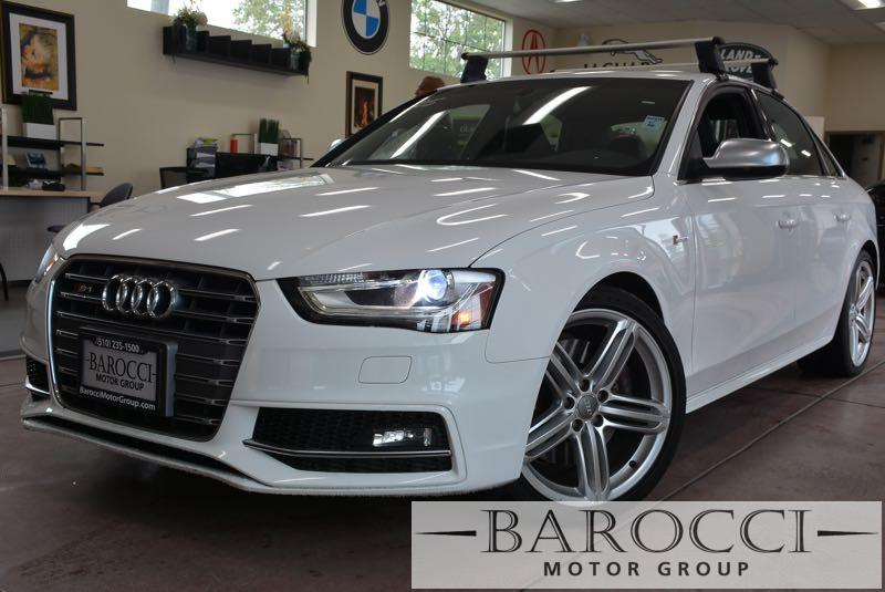 2014 Audi S4 30T quattro Prestige 4dr 7 Speed Auto White Black Now offering an outstanding one