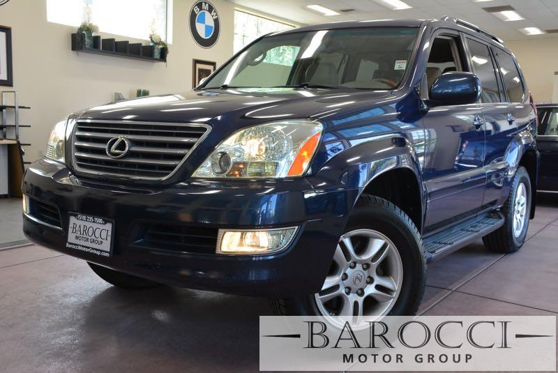 2004 Lexus GX 470 Base 4WD 4dr SUV 5 Speed Auto Dk Blue Navigation DVD Player Third Seat Lea